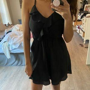 BCBGeneration Black Ruffle Dress